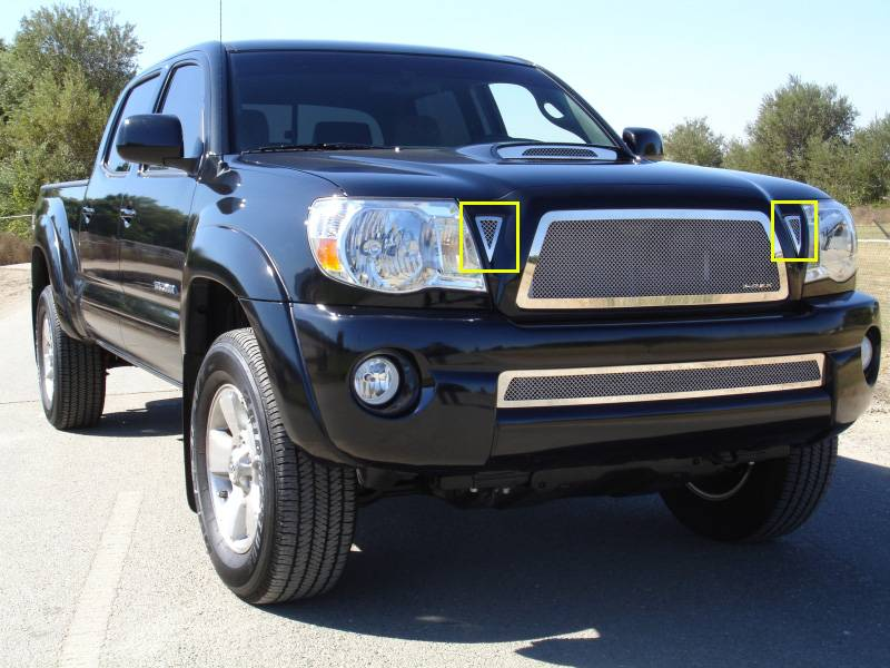 T-REX Grilles - 2011 Tacoma Upper Class Series Main Grille, Polished, 2 Pc, Bolt-On - PN #54937