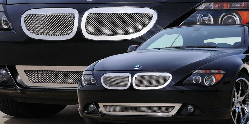 T-REX Grilles - 2004-2011 BMW 6 Series Coupe Upper Class Grille, Polished, 2 Pc, Insert - PN #54997