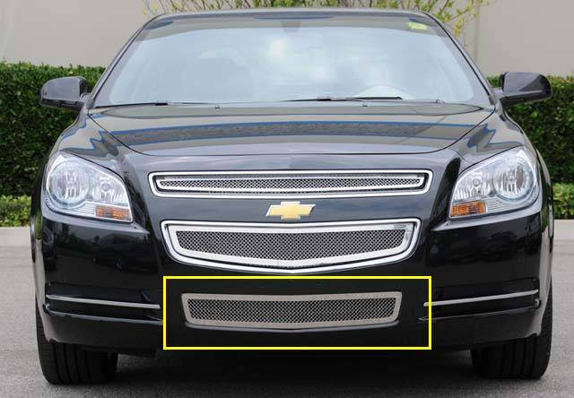 T-REX Grilles - 2008-2012 Chev Malibu LS, LT Upper Class Series Bumper Grille, Polished, 1 Pc, Overlay - PN #55168