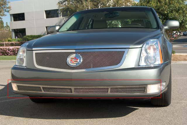 T-REX Grilles - 2006-2011 Cadillac DTS Upper Class Bumper Grille, Polished, 1 Pc, Overlay - PN #55188