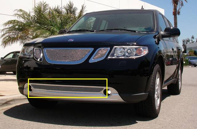 T-REX Grilles - Saab 9-7X Upper Class Polished Stainless Bumper Mesh Grille - Pt # 55305