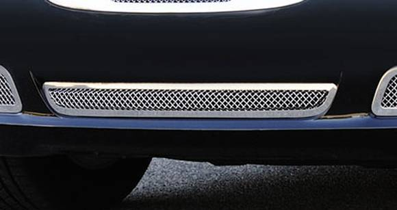 T-REX Chrysler 300 Upper Class Polished Stainless Bumper Mesh Grille - with Frame and Formed Mesh Center - Installs into center bumper opening - Pt # 55433