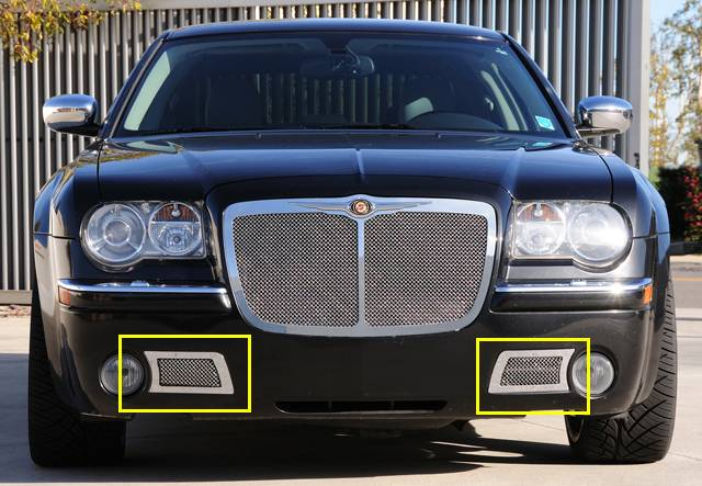 T-REX Grilles - 2005-2010 Chrysler 300C, SRT Upper Class Bumper Grille, Polished, 2 Pc, Overlay - PN #55471