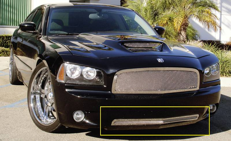 T-REX Grilles - Dodge Charger SRT Upper Class Polished Stainless Bumper Mesh Grille - Pt # 55475