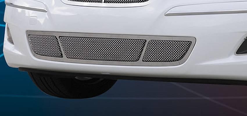 T-REX Grilles - 2009-2011 Hyundai Genesis Sedan Upper Class Bumper Grille, Polished, 1 Pc, Overlay - PN #55494