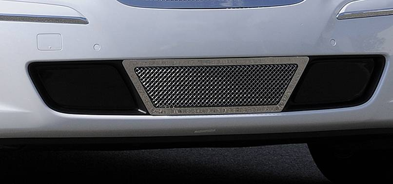 T-REX Grilles - 2009-2011 Hyundai Genesis Sedan Upper Class Bumper Grille, Polished, 1 Pc, Overlay, Center Area Only - PN #55495