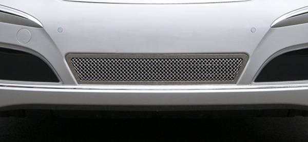 T-REX Grilles - 2010-2013 Hyundai Equus Upper Class Bumper Grille, Polished, 1 Pc, Overlay - PN #55496