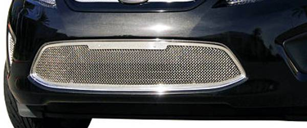 T-REX Grilles - 2011-2013 Ford Fiesta SE, SEL Upper Class Bumper Grille, Polished, 1 Pc, Overlay - PN #55588