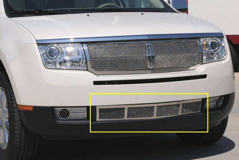 T-REX Grilles - 2007-2010 Lincoln MKX Upper Class Bumper Grille, Polished, 1 Pc, Overlay - PN #55717