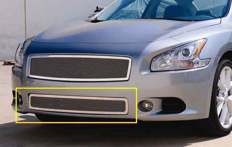 T-REX Grilles - Nissan Maxima Upper Class Polished Stainless Bumper Mesh Grille - Pt # 55758