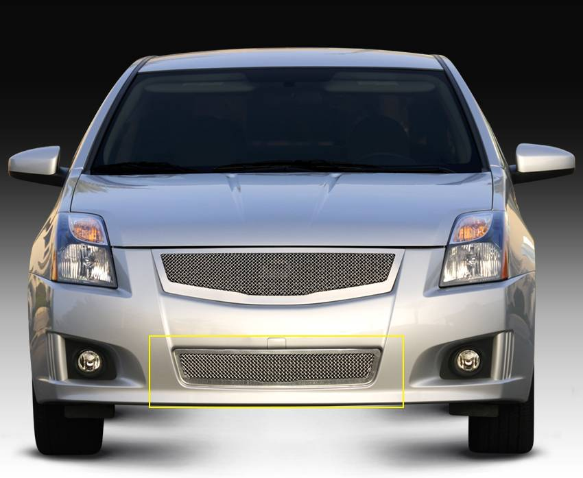 T-REX Grilles - Nissan Sentra 2.0 SR, SE-R Upper Class Polished Stainless Mesh Bumper - Pt # 55764