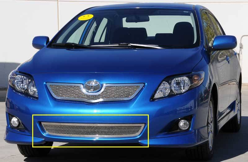T-REX Grilles - Toyota Corolla Upper Class Polished Stainless Bumper Mesh Grille - Pt # 55908