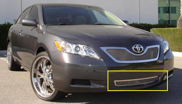 T-REX Grilles - Toyota Camry Upper Class Polished Stainless Bumper Mesh Grille - Pt # 55921