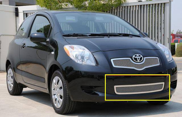 T-REX Grilles - Toyota Yaris Hatchback Upper Class Polished Stainless Bumper Mesh Grille - Pt # 55926