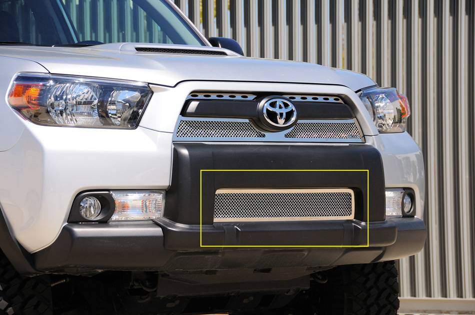 T-REX Grilles - 2010-2013 Toyota 4Runner Upper Class Bumper Grille, Polished, 1 Pc, Overlay - PN #55947