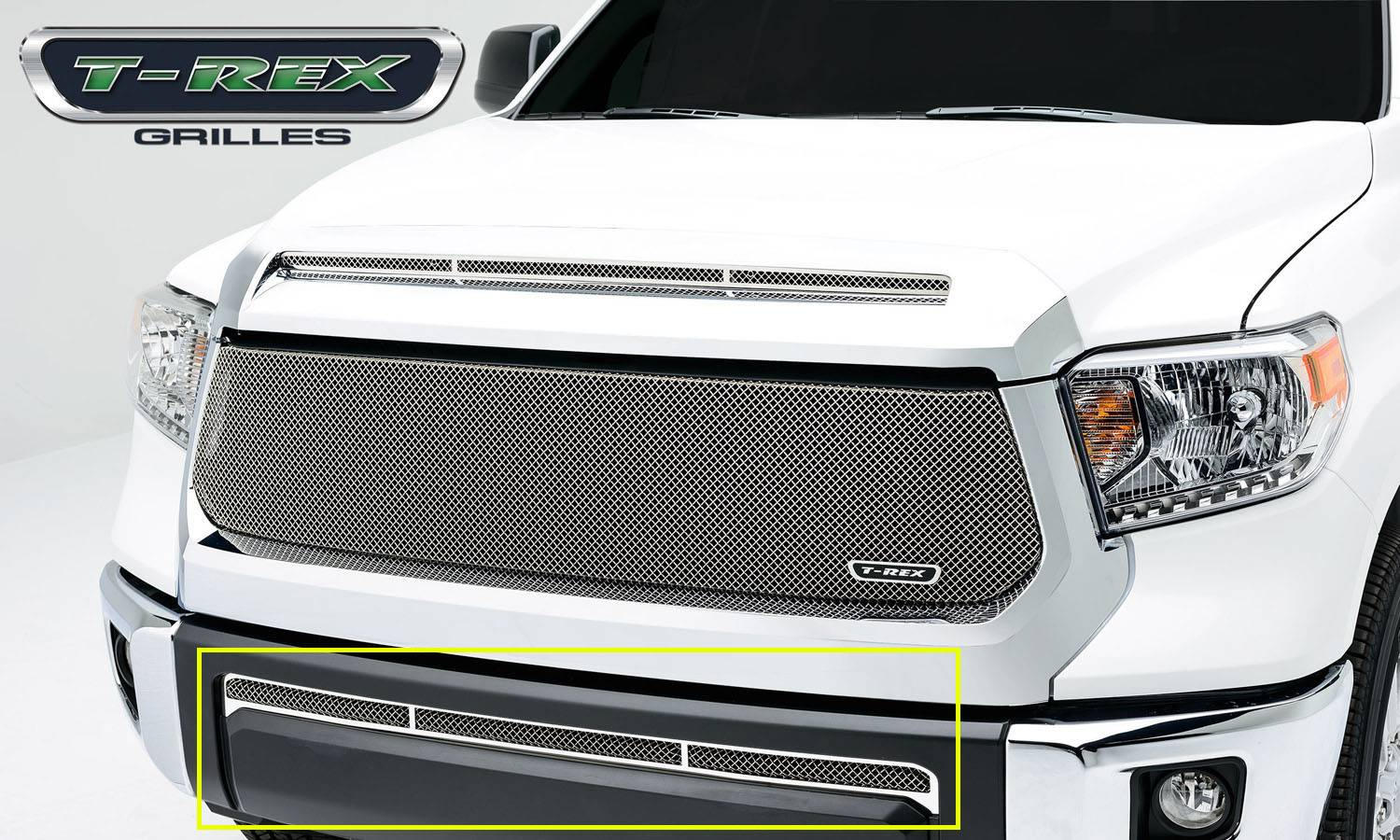 T-REX Grilles - 2014-2017 Tundra Upper Class Bumper Grille, Polished, 1 Pc, Overlay - PN #55964