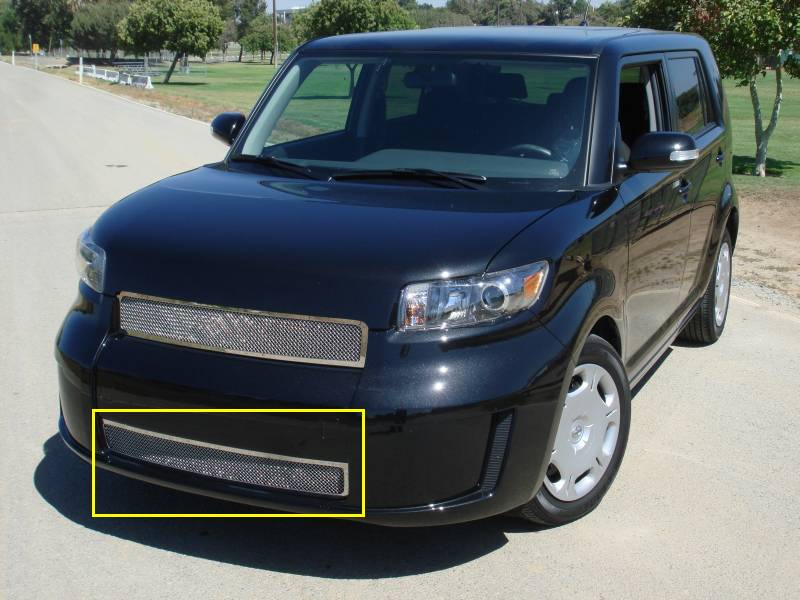 T-REX Grilles - Scion Scion XB Upper Class Polished Stainless Bumper Mesh Grille - Models w/o Fog Lamps - Pt # 55973