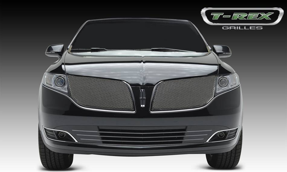 T-REX Lincoln MKT Upper Class, Formed Mesh Grille, Main, Overlay, 2 Pcs, Chromed Stainless Steel - Pt # 56719