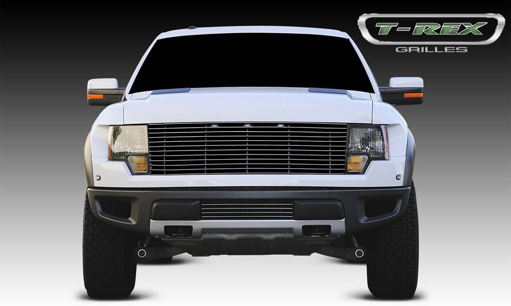 T-REX Grilles - 2010-2014 F-150 Raptor SVT Laser Billet Grille, Polished, 1 Pc, Replacement - PN #6215660