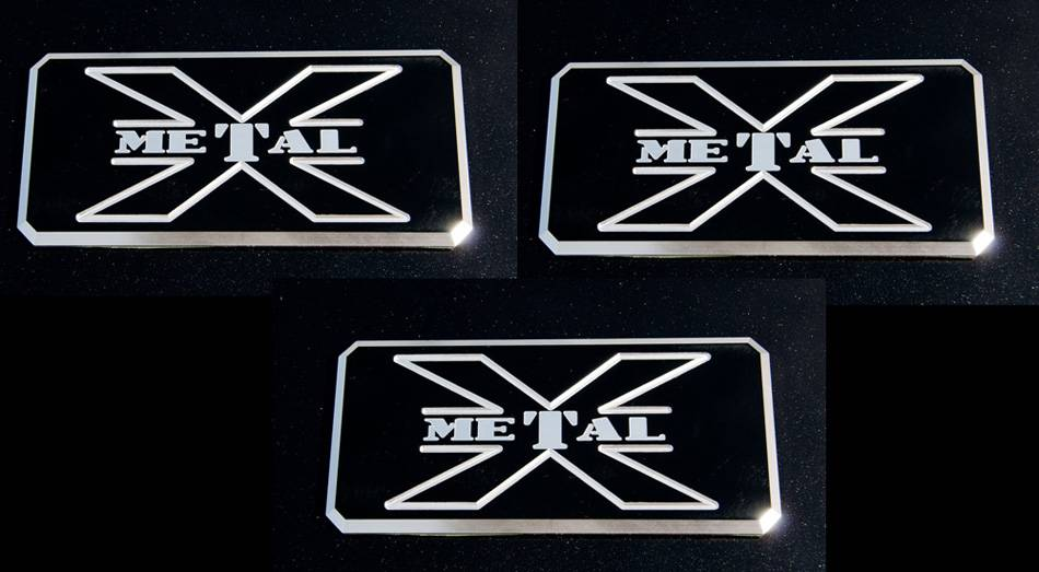 "T-REX Grilles - ALL Most Vehicles ""X-Metal"" Series - Body Side Badges - 3 Pc - Black/ Machine - Pt # 6700033"