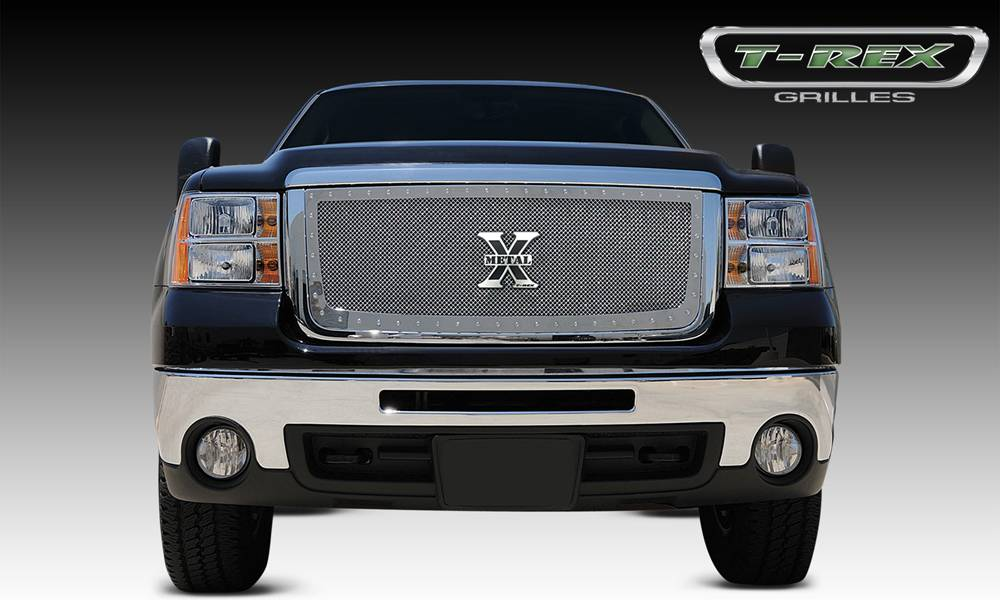 T-REX Grilles - GMC Sierra HD X-METAL Series - Studded Main Grille - Polished SS - Pt # 6712060