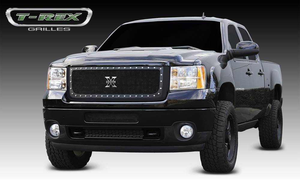 T-REX GMC Sierra HD X-METAL Series - Studded Main Grille - ALL Black - Pt # 6712091