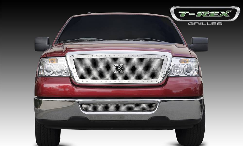 T-REX Ford F-150 All Models X-METAL Series - Studded Main Grille - Polished SS - Pt # 6715560