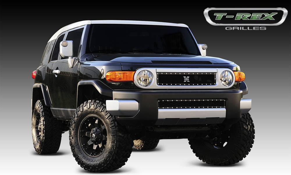 T-REX Toyota FJ Cruiser X-METAL Series - Studded Main Grille - ALL Black - Pt # 6719321