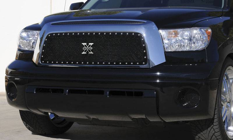 T-REX Grilles - Toyota Tundra  X-METAL Series - Studded Main Grille - ALL Black - Pt # 6719591
