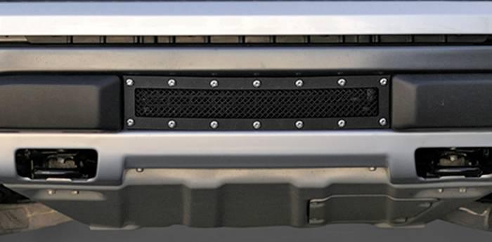 T-REX Grilles - 2010-2014 F-150 Raptor SVT X-Metal Bumper Grille, Black, 1 Pc, Overlay, Chrome Studs - PN #6725661