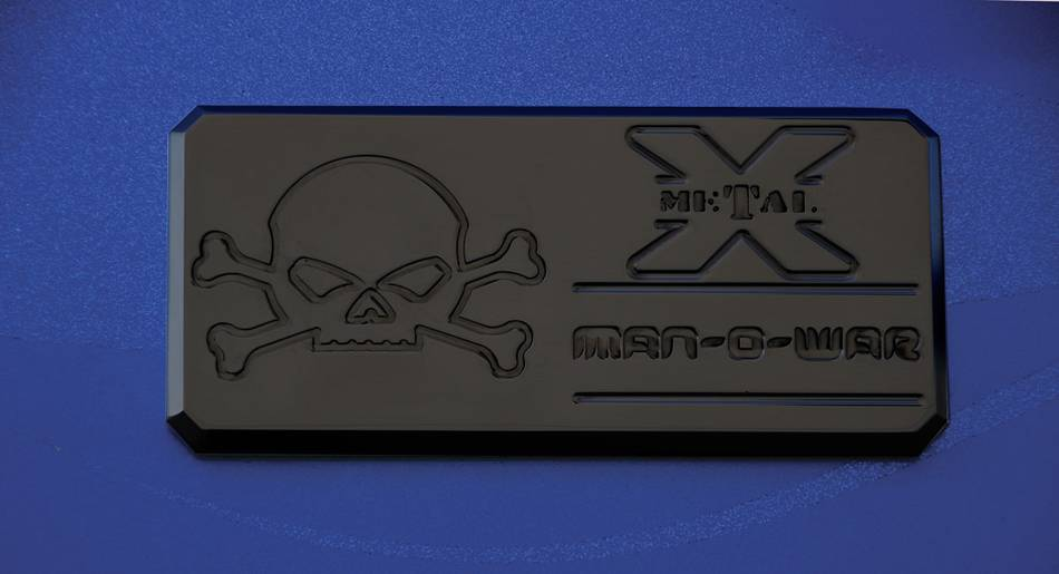 "T-REX ALL Most Vehicles ""Man-O-War"" Series - Body Side Badges - 1 Pc - Black - Pt # 6800011"