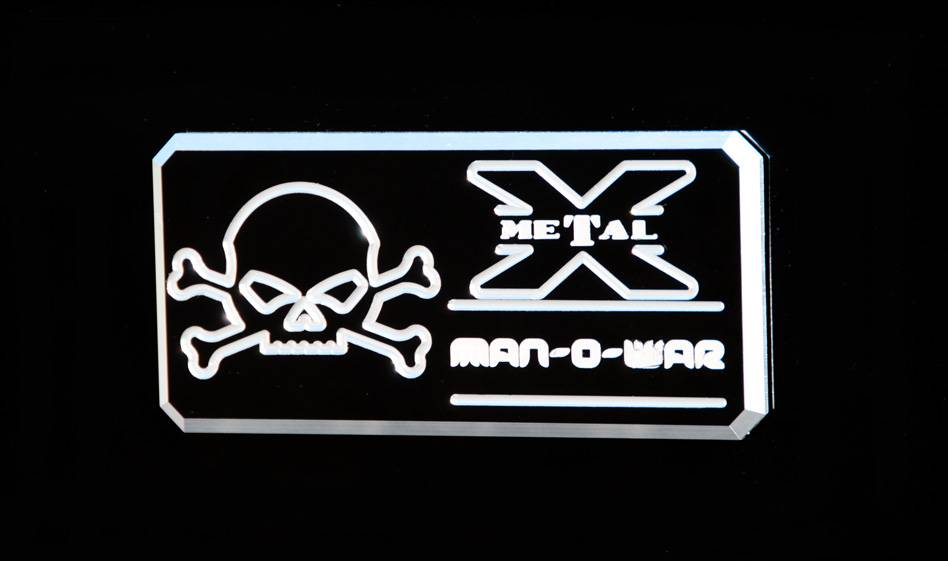 "T-REX Grilles - ALL Most Vehicles ""Man-O-War"" Series - Body Side Badges - 1 Pc - Black/ Machine - Pt # 6800013"