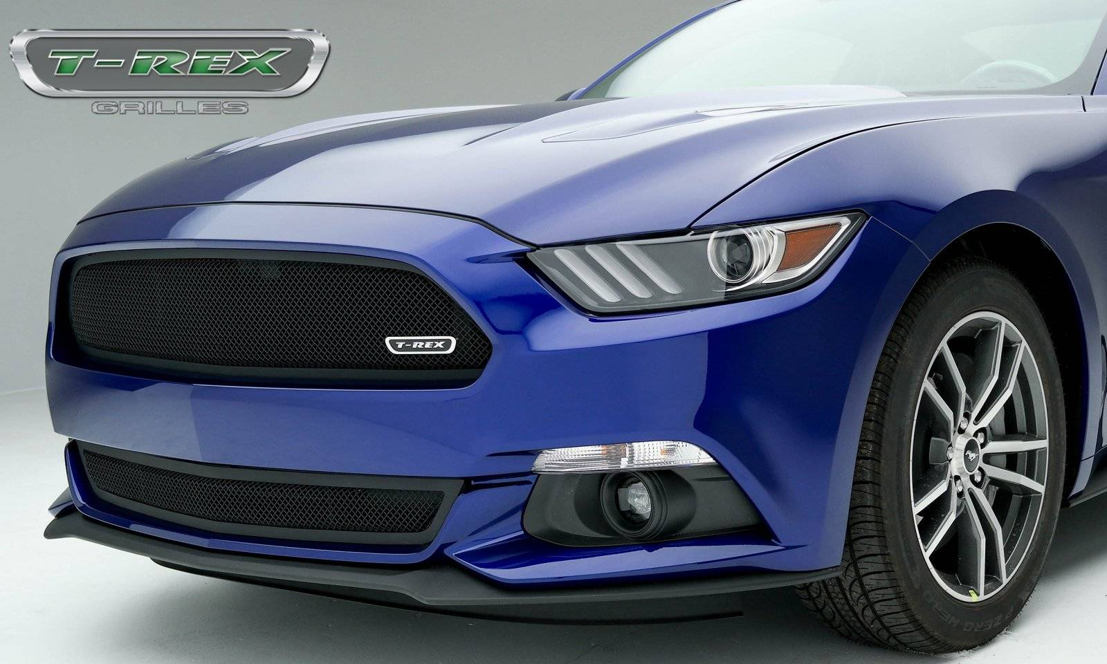 T-REX Ford Mustang GT - Upper Class - Formed Mesh Grille, Bumper, Overlay with Flat Black Powder Coated Finish - Pt # 52530