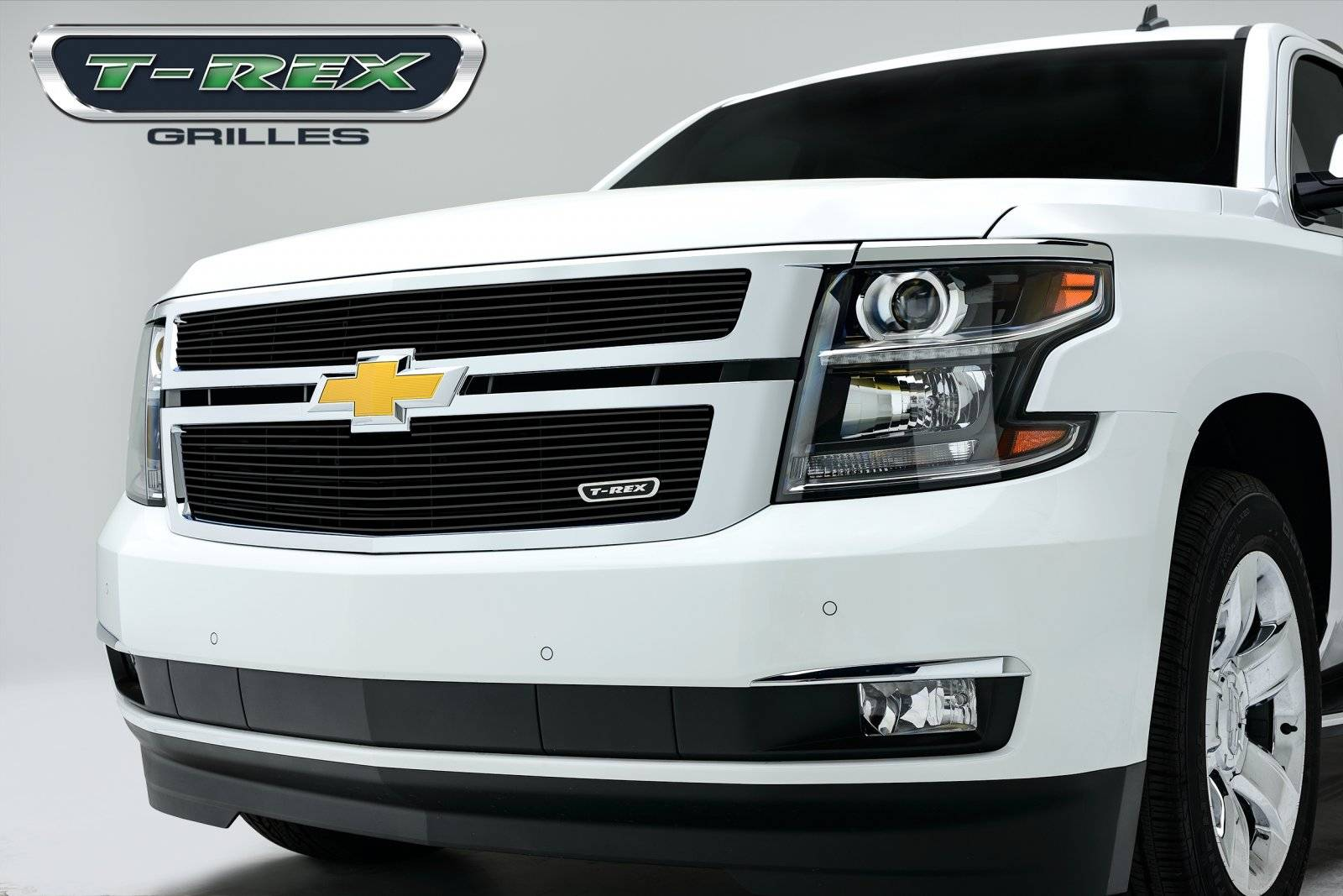 T-REX Chevrolet Suburban, Tahoe Billet Grille Overlay/Bolt On - 2 Pc  - All Black - Pt # 21055B