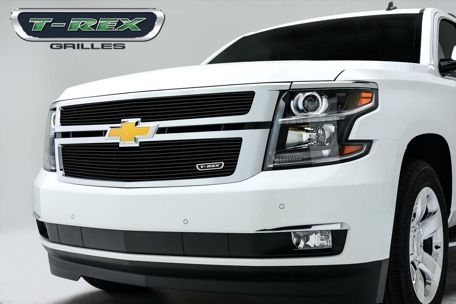 T-REX Grilles - Chevrolet Suburban, Tahoe Billet Grille Overlay/Bolt On - 2 Pc  - All Black - Pt # 21055B
