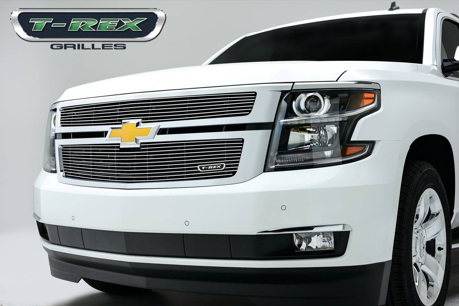 T-REX Grilles - Chevrolet Suburban, Tahoe Billet Grille Overlay/Bolt On - 2 Pc - Pt # 21055