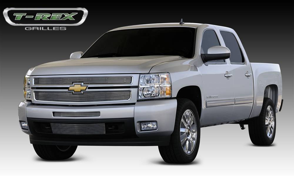 T-REX Chevrolet Silverado 1500 Billet Grille Overlay/Bolt On - Polished - Pt # 21110