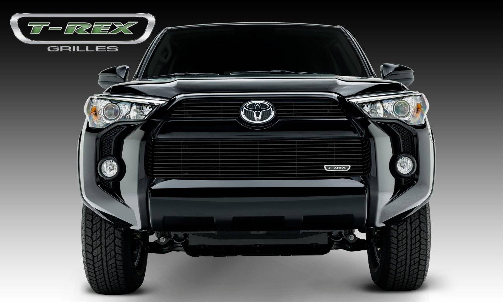 T-REX Grilles - Toyota 4 Runner Billet Grille, Main & Bumper, Overlay, 3 Pc's, Black Powdercoated Aluminum Bars, Fits Trail & SR5 but not Limited - Pt # 21949B