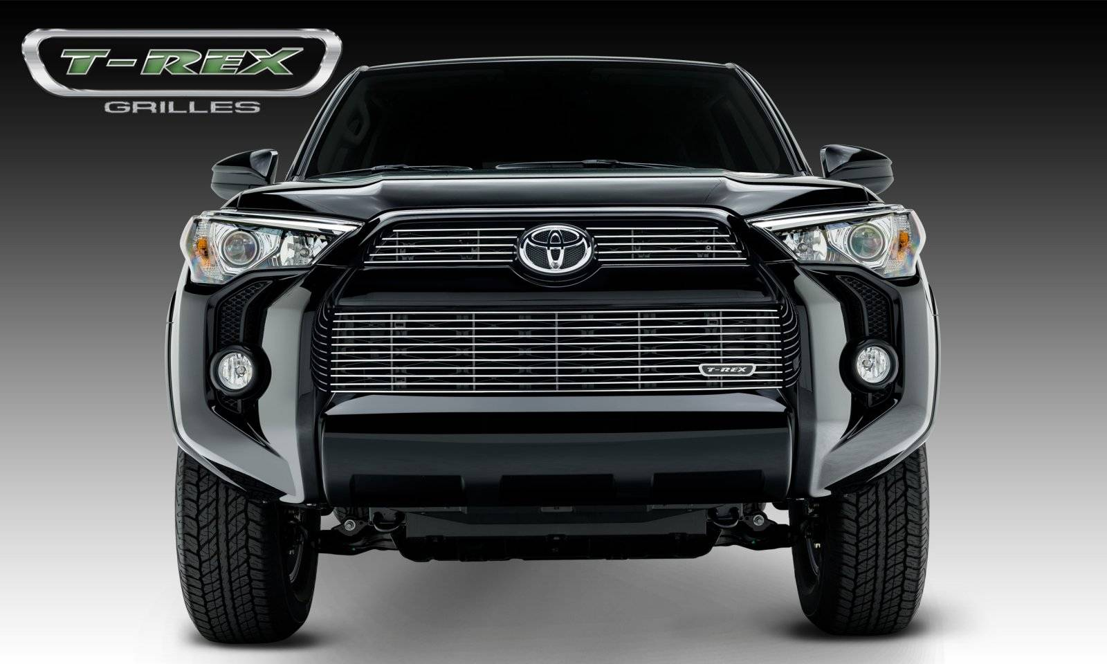 T-REX Grilles - Toyota 4 Runner Billet Grille, Main & Bumper, Overlay, 3 Pc's, Polished Powdercoated Aluminum Bars, Fits Trail & SR5 but not Limited - Pt # 21949