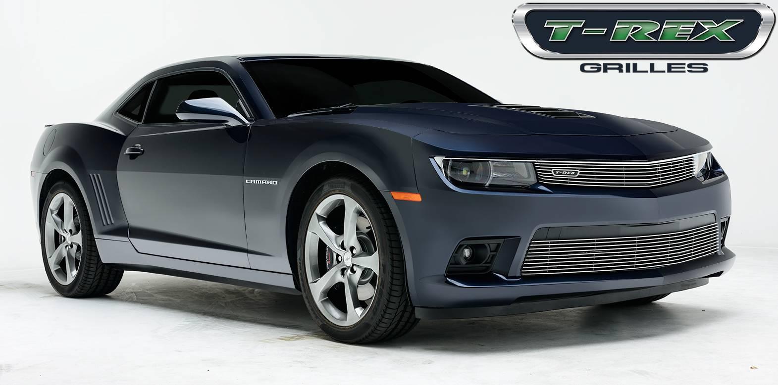 T-REX Grilles - Chevrolet Camaro SS Billet Grille, Bumper, Overlay, 1 Pc, Polished  Aluminum Bars - Pt # 25032