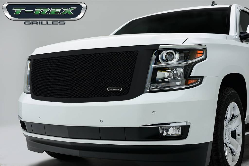 T-REX Grilles - 2015-2019 Chev Sub/Tahoe LT, LTZ Upper Class Grille, Black, 1 Pc, Replacement - PN #51056