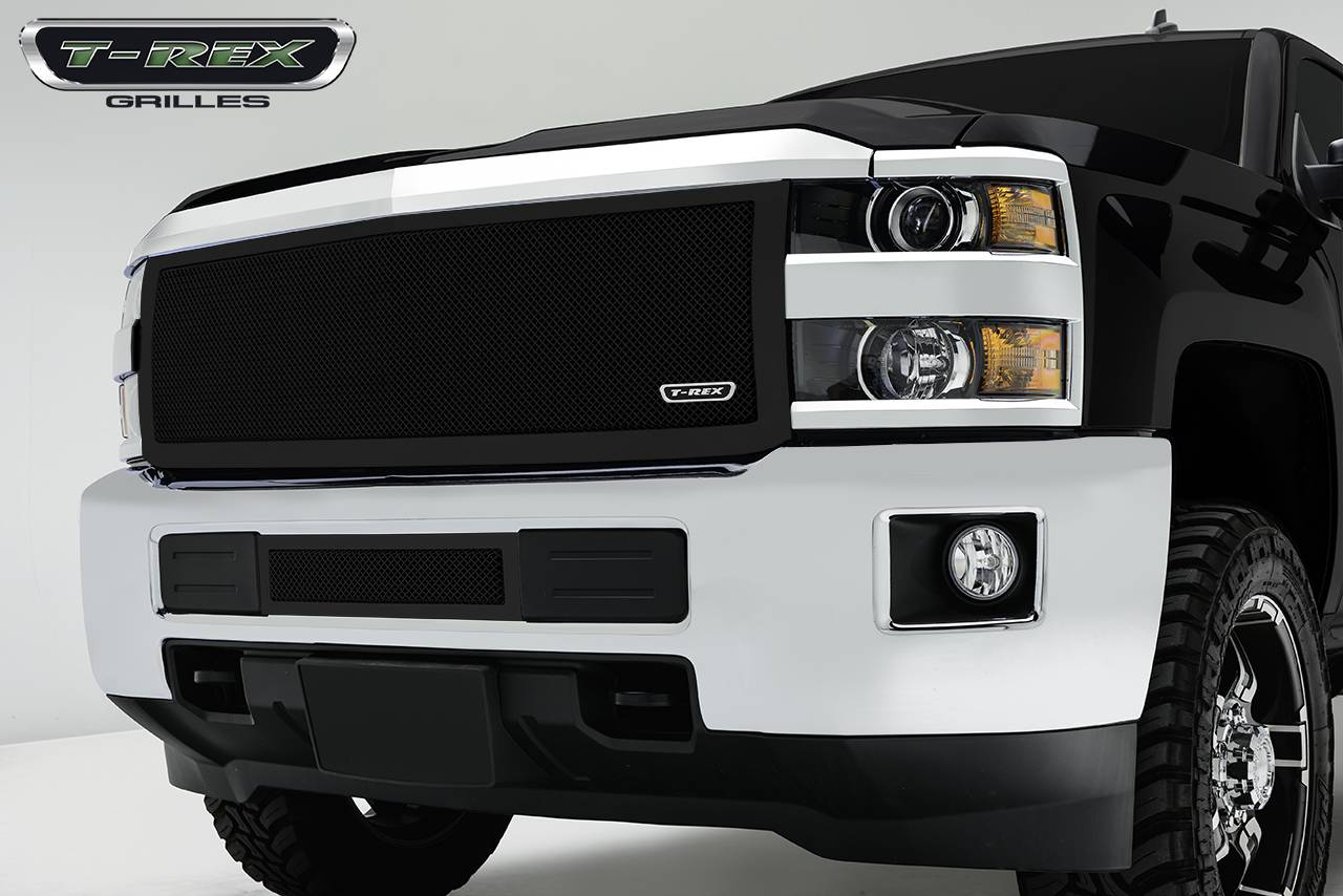 Chevrolet Silverado HD Upper Class, Formed Mesh Grille, Main, Insert, 1 Pc, Black Powdercoated Mild Steel - Pt # 51123
