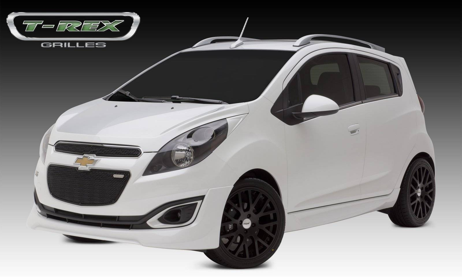T-REX Grilles - Chevrolet Spark Upper Class Stainless Mesh Grille - 2 Pc's Top & Bottom - All Black - Pt # 51129