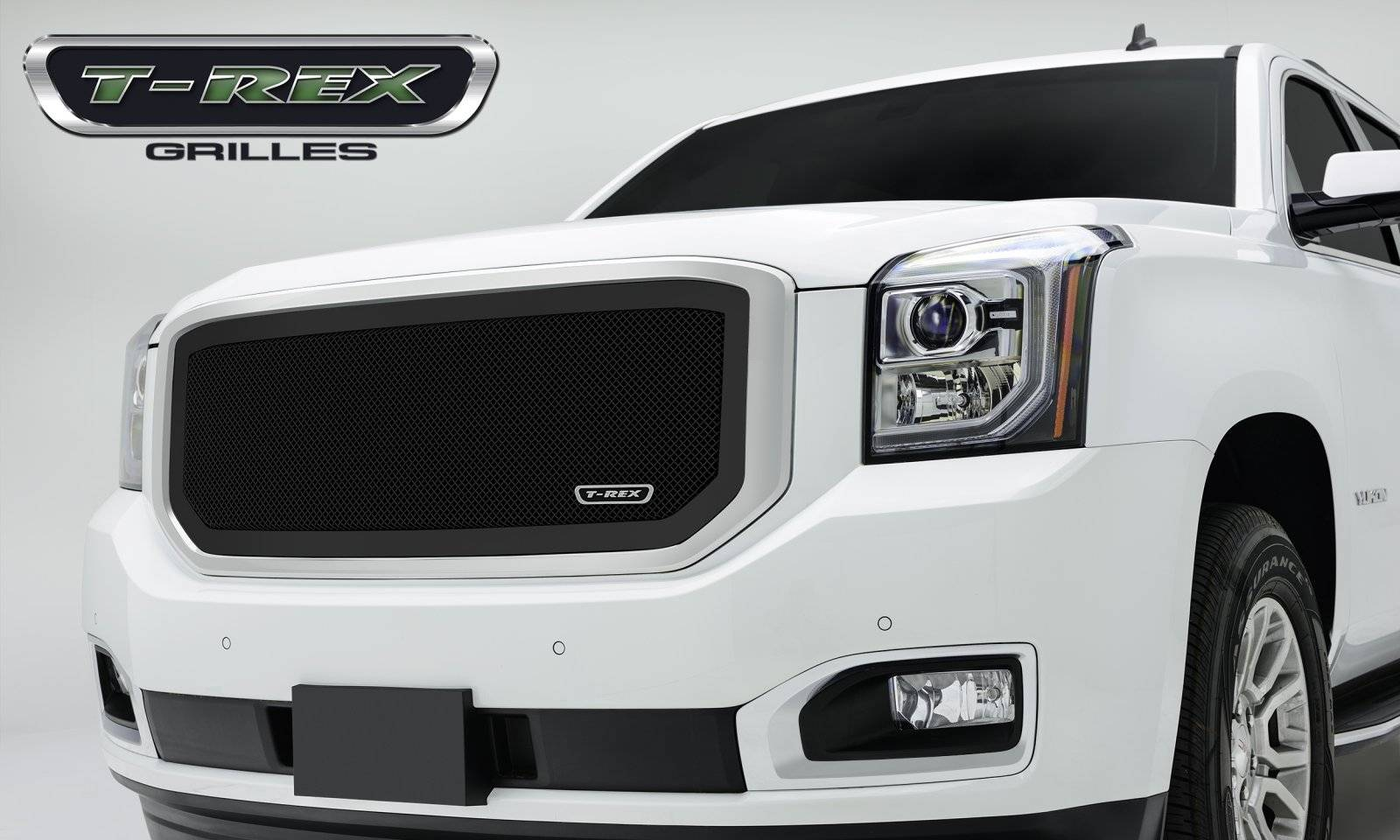 T-REX Grilles - GMC YUKON Upper Class Mesh Grille - All Black - Pt # 51169