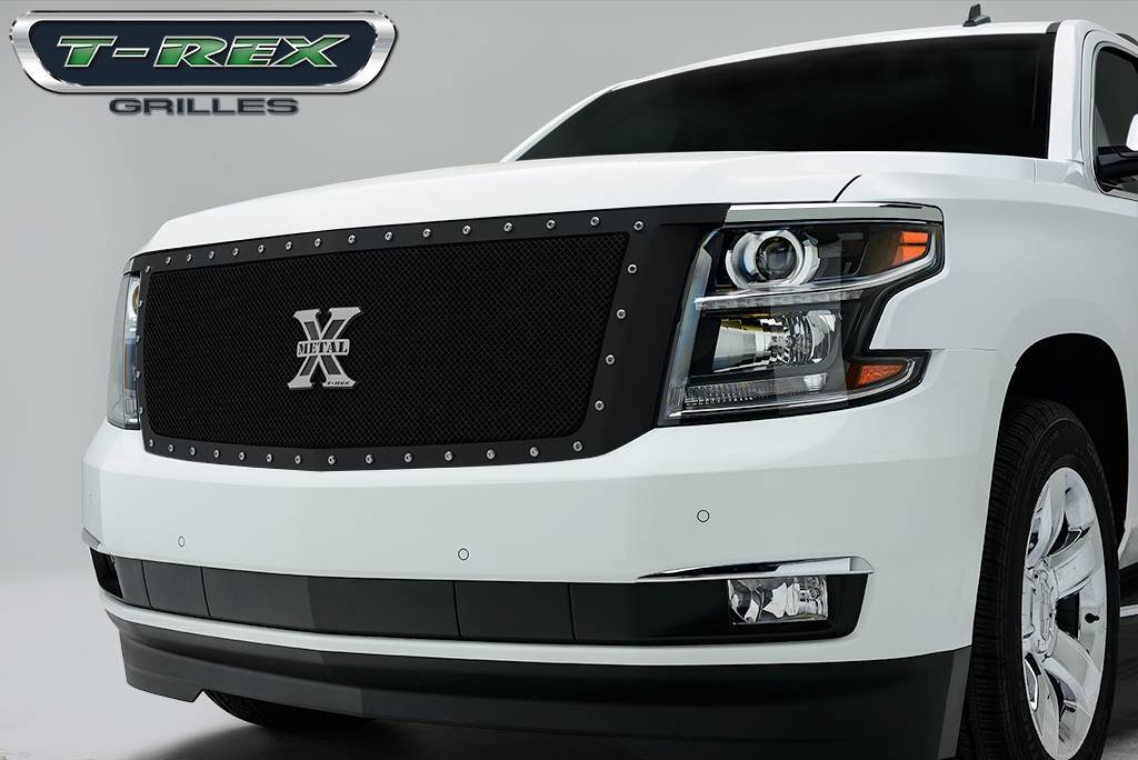 T-REX Chevrolet Suburban, Tahoe  X-Metal,Formed Mesh Grille, Main, Replacement, 1 Pc, Black Powdercoated Mild Steel - Pt # 6710561