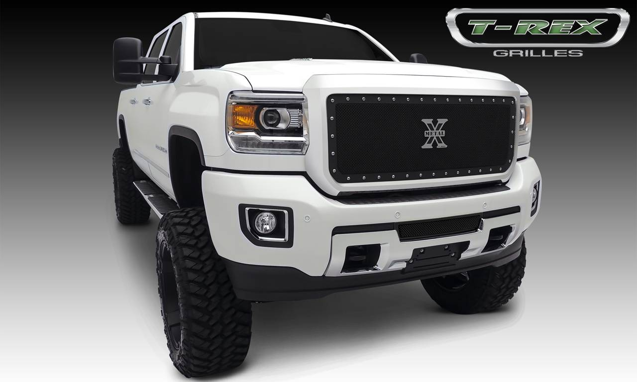 T-REX GMC Sierra HD  X-Metal, Formed Mesh Grille, Main, Insert, 1 Pc, Black Powdercoated Mild Steel - Pt # 6712111
