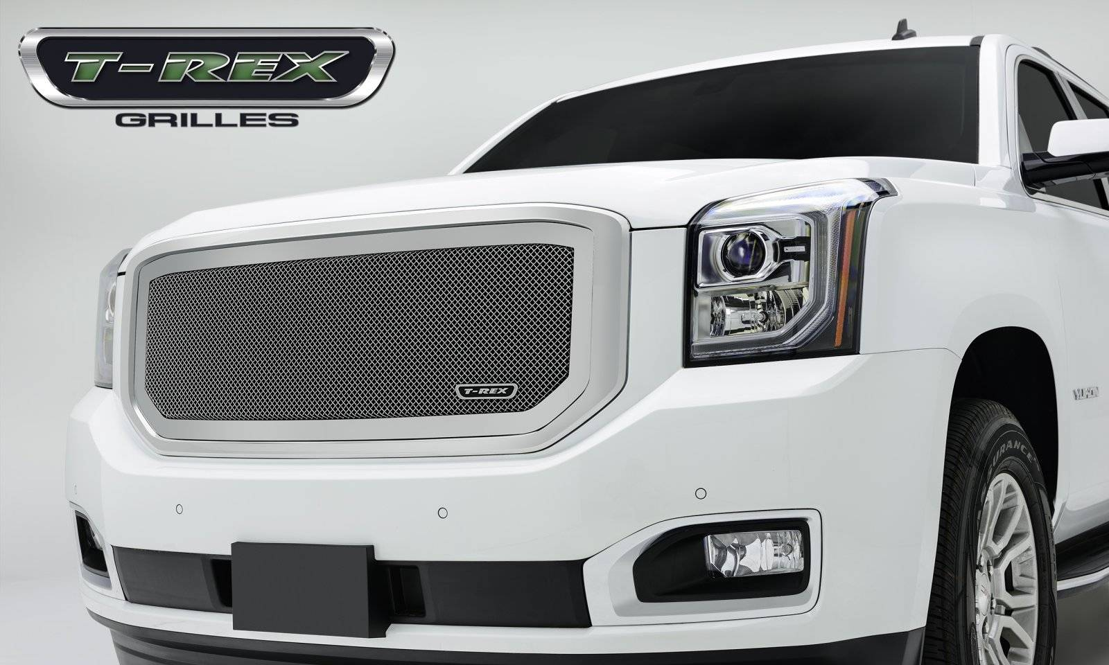 T-REX Grilles - 2015-2019 Yukon, Yukon XL Upper Class Grille, Polished, 1 Pc, Insert - PN #54169