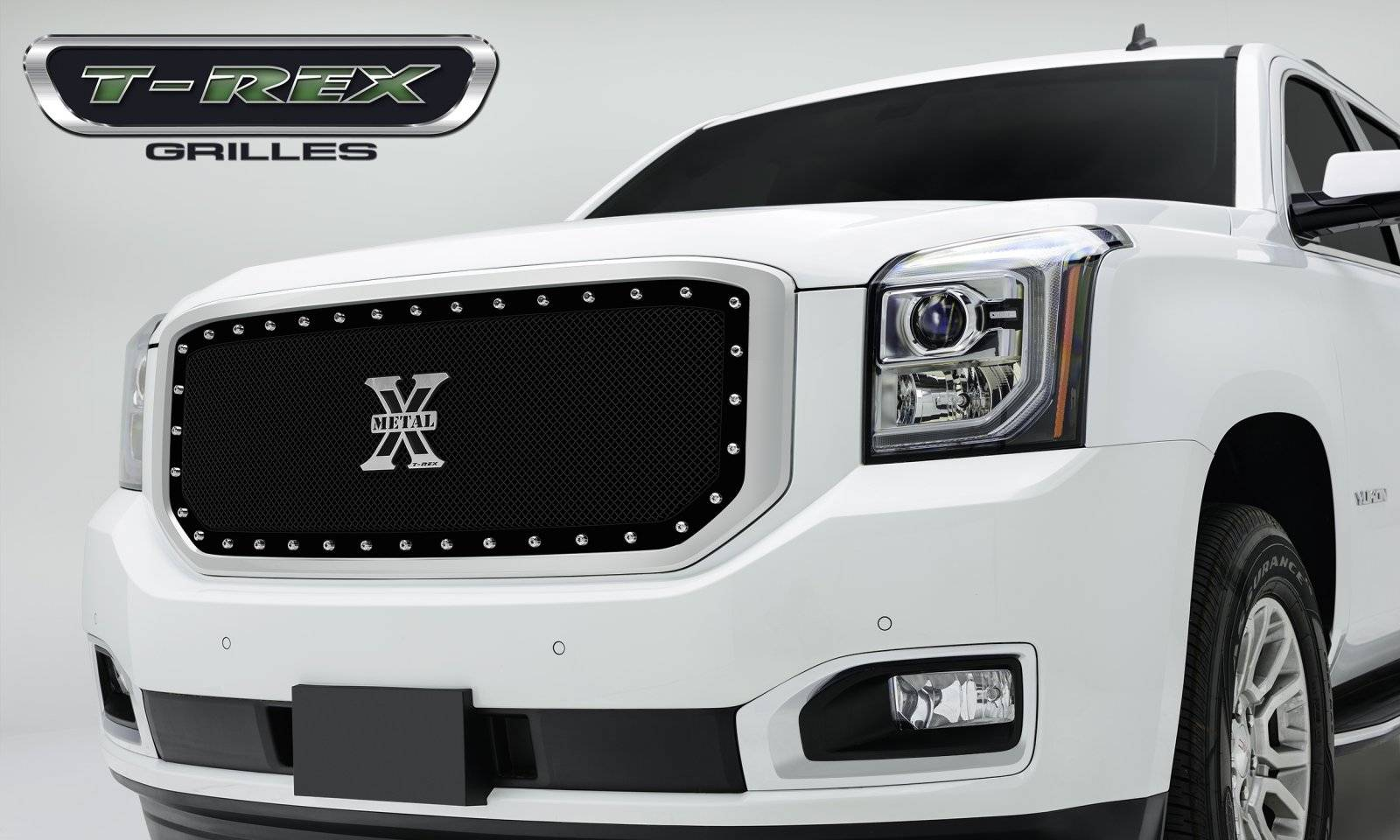 T-REX GMC YUKON X-METAL Series - Studded Main Grille - ALL Black - Pt # 6711691