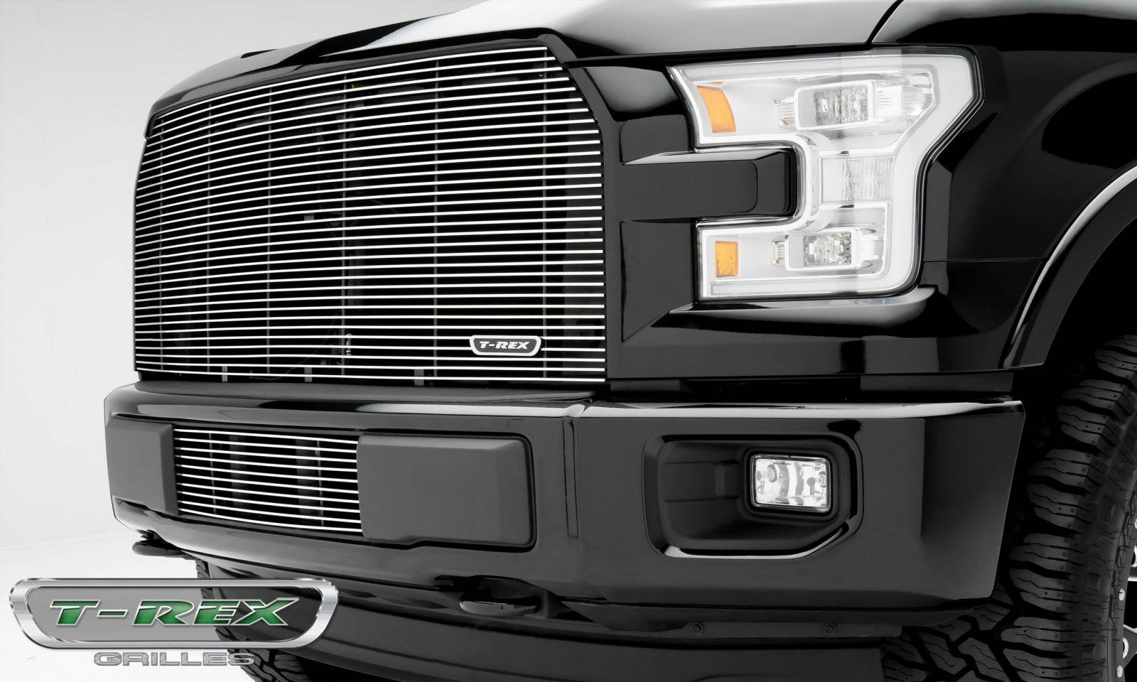 T-REX Grilles - 2015-2017 F-150 Billet Grille, Polished, 1 Pc, Replacement - PN #20573