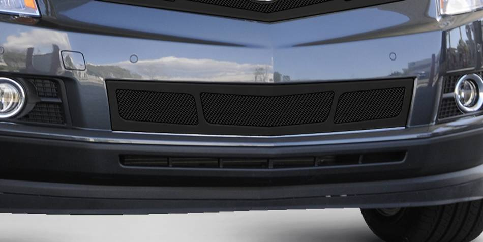 T-REX Cadillac SRX Upper Class Mesh Bumper Grille - Overlay - Full Opening - Black - Pt # 52186